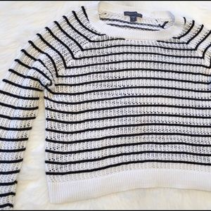 Kendall + Kylie Cropped Striped Sweater